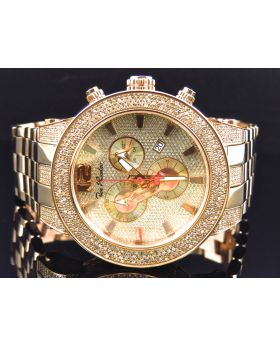 48 MM Rose Gold Diamond Stainless Steel Watch By Joe Rodeo JRBR13