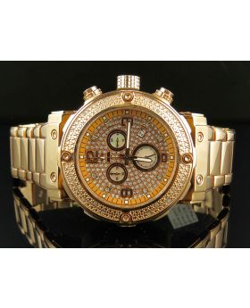 Aqua Master Rose Gold Stainless Steel Chrono 0.25ct Diamond Quartz Watch W#146