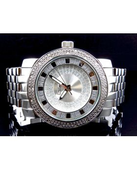 Jojino/Jojo Genuine Diamond Steel Watch, MJ-1201 (0.25ct)