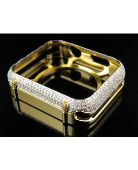 Yellow Gold Apple I-Watch Diamond 42MM Bezel Case (2.50ct.)