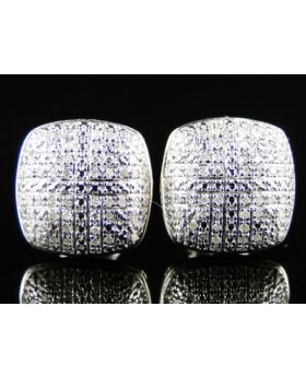 New Ladies Or Mens Domed Diamond Stud Earrings 0.50 Ct