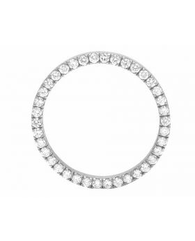 Solid White Gold Prong Set Diamond Bezel for 36MM Rolex President & Datejust (3 Ct)