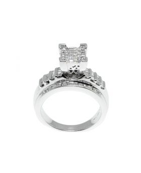 Center - Princess/Round Cut Comfort Fit Engagement Ring