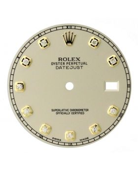 Factory Rolex Ivory Diamond Dial for Datejust II 41MM 116333 Watch