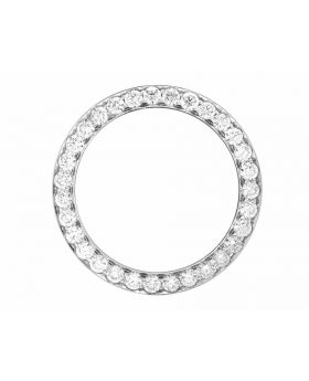 Solid White Gold Bead Set Diamond Bezel for 36MM Rolex President & Datejust (5.3 Ct)