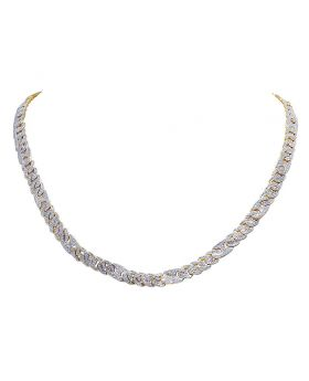 "10K Yellow Gold Mariner Cuban Diamond Choker Chain 2.75 CT 21"" 6MM"
