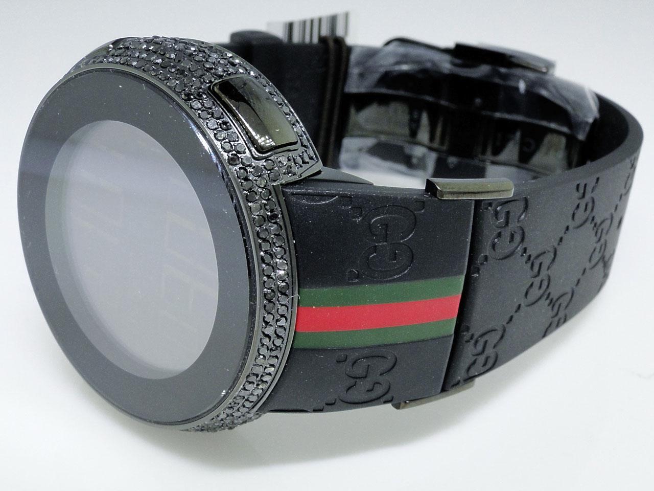 new mens authentic sports i gucci digital black diamond watch new mens authentic sports i gucci digital black diamond watch ya114207 4 0 ct