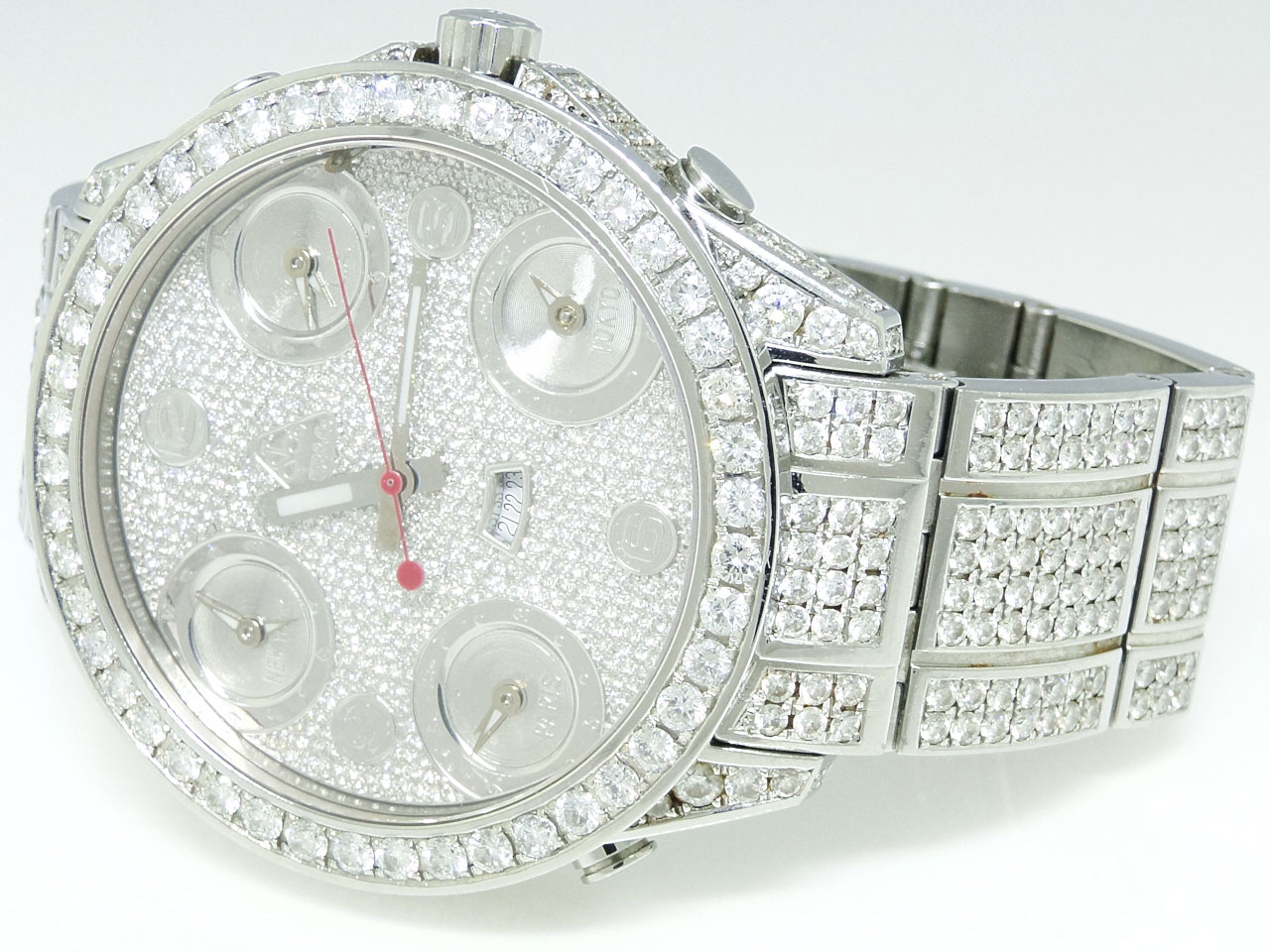 jacob diamond watches for mens best watchess 2017 pre owned mens jacob co 5 timezone iced out diamond watch 27