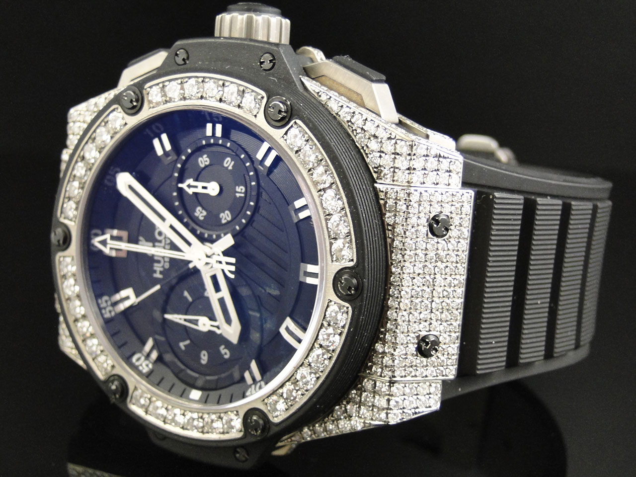 ap out steel iced watch simulated stainless diamond wtch