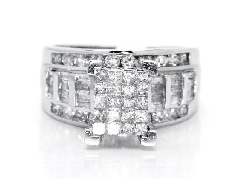 white gold princess cut diamond cinderella bridal wedding engagement ring 201 ct - Cinderella Wedding Ring