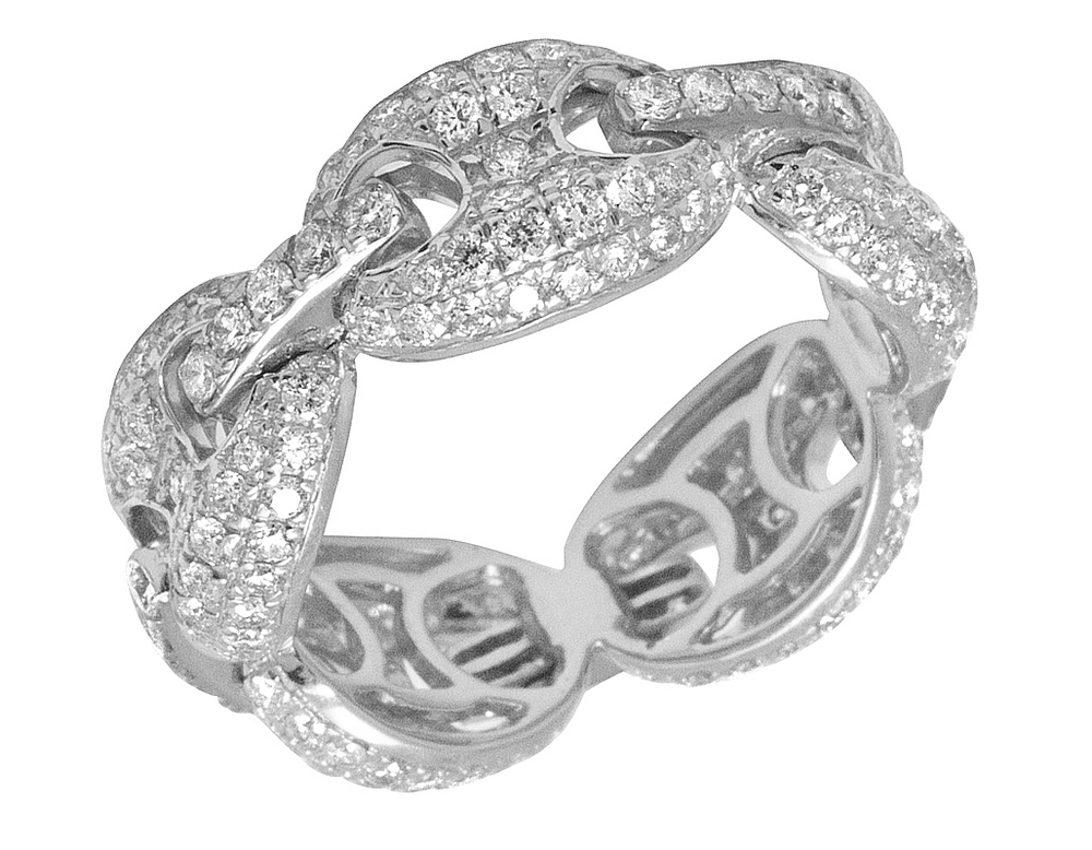 "4 Ct Round Cut Diamond Tennis Bracelet à 3 broches en 14K Or Blanc Finition 8/"""