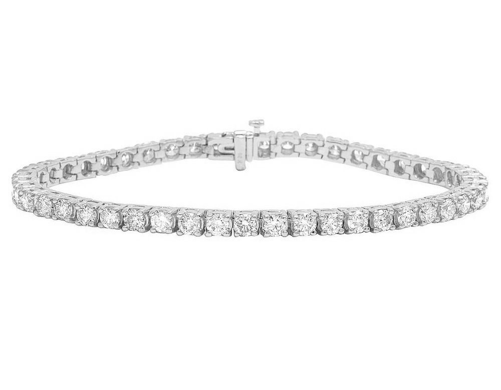 14k White Gold 4mm Tennis Solitaire