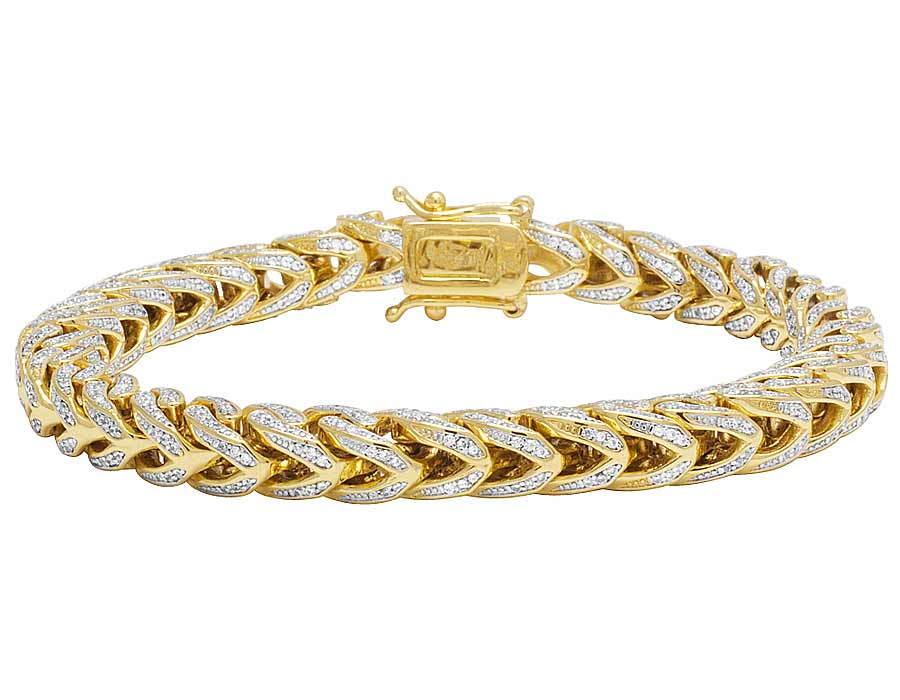 ct bracelet franco gold and yellow diamond bracelets grams pin