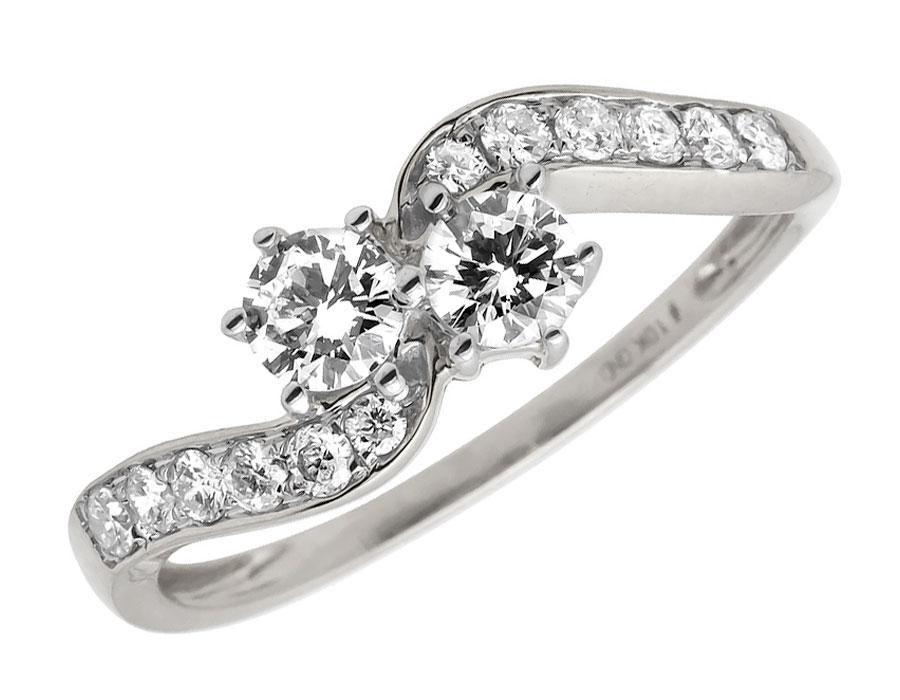 10k white gold forever us 2 real diamonds engagement