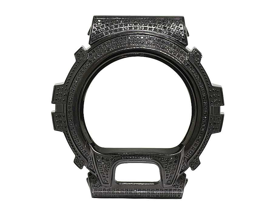 Detalles de Diamante Negro Acero Inoxidable Bisel Carcasa para G Shock DW 6900 Reloj 3.0CT