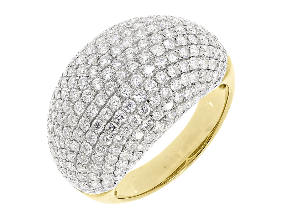 gold yellow ring bands floral diamond picture of band