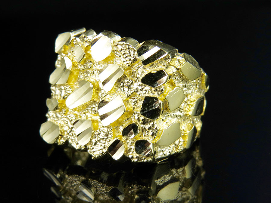 real 10k yellow gold s nugget style large custom