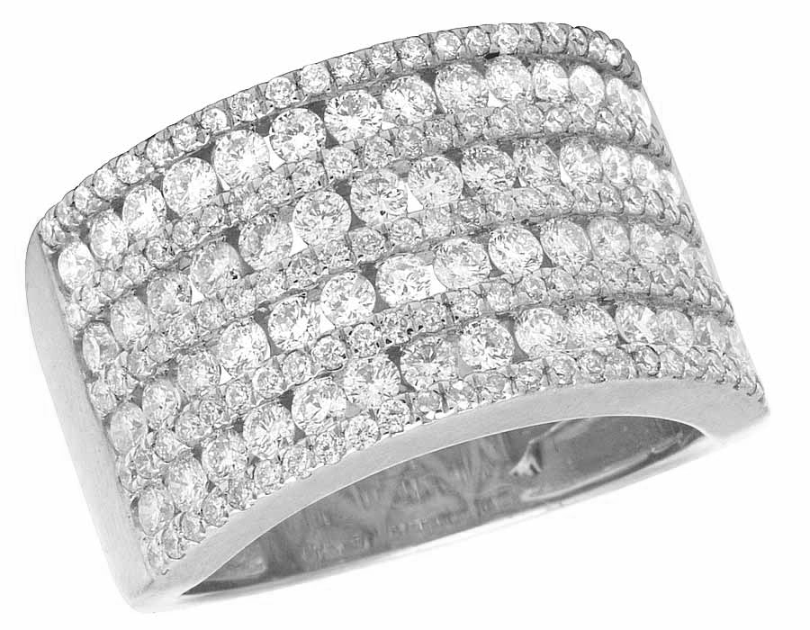 14K White Gold Channel Real Diamond Men s Pinky La s Fashion Band Ring