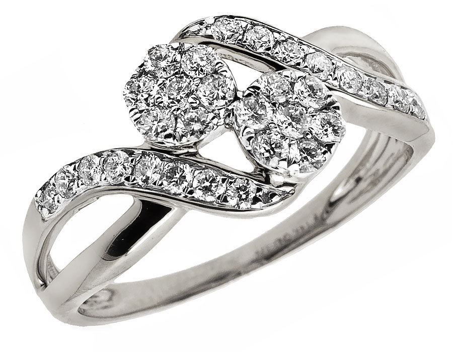 ladies 14k white gold forever us 2 stone diamond. Black Bedroom Furniture Sets. Home Design Ideas