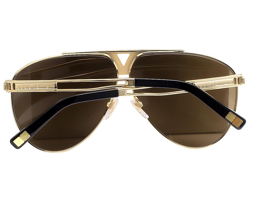 1d15eac3150 Mens Louis Vuitton Brown Shades Tonca Custom Diamond Sunglasses Z2314U  1.85CT
