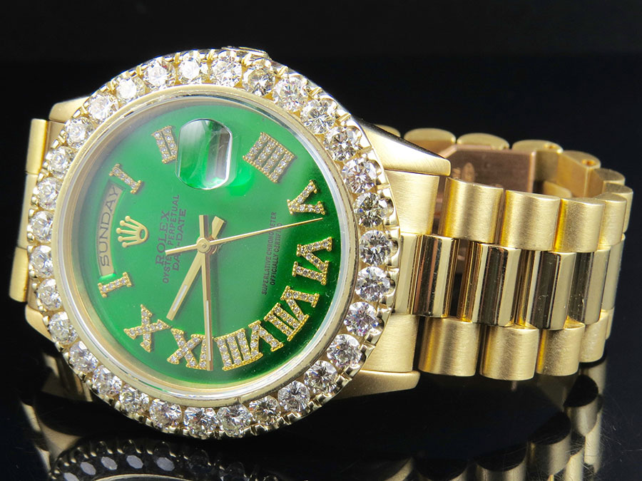 Rolex Diamond Face Watch