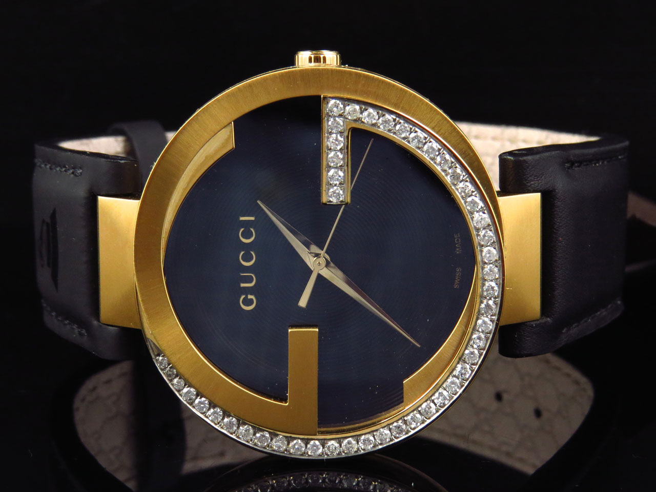 f0eec4b96c9 Mens Gucci Latin GRAMMY® 42 MM XL Interlocking Diamond Watch YA133212 1.25  Ct 686907237185