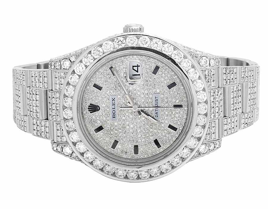 White Gold Full Diamond Rolex