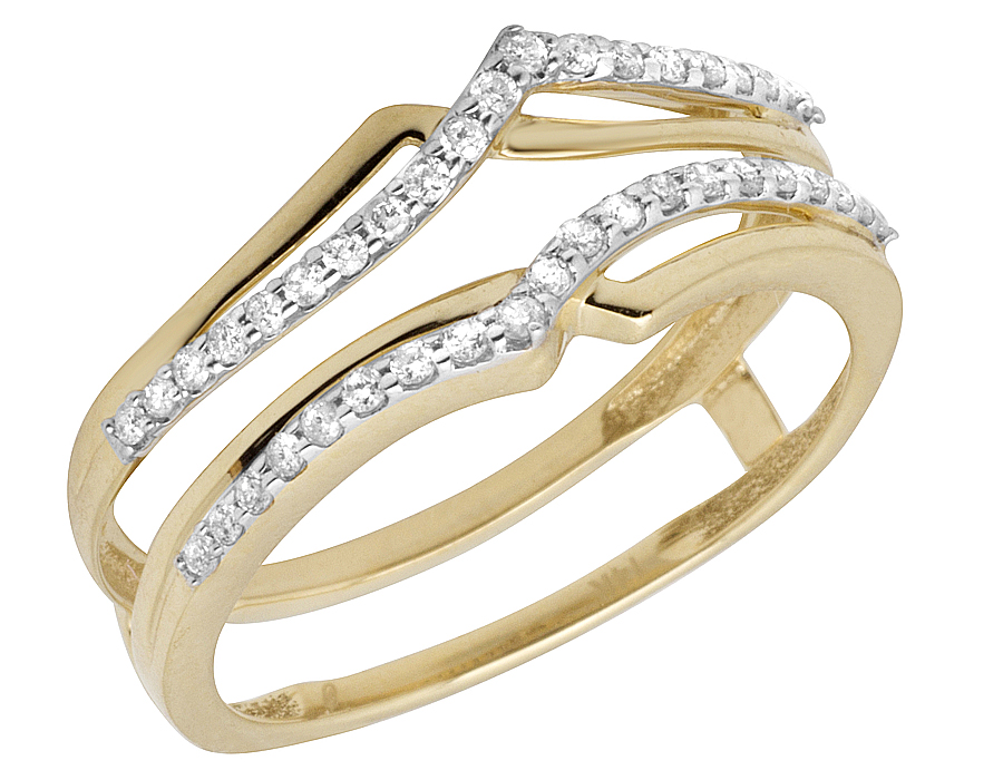 Naava Damas Elegante Anillo De Diamantes De Oro Amarillo 9 Ct M