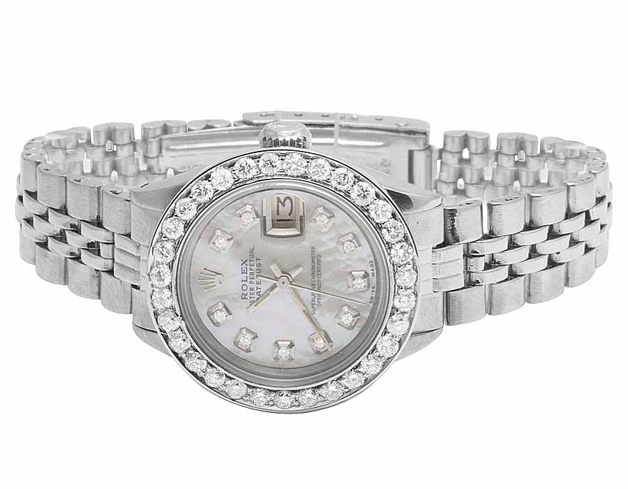 white itm datejust pearl rolex watch image mother is bracelet jubilee of diamond loading s