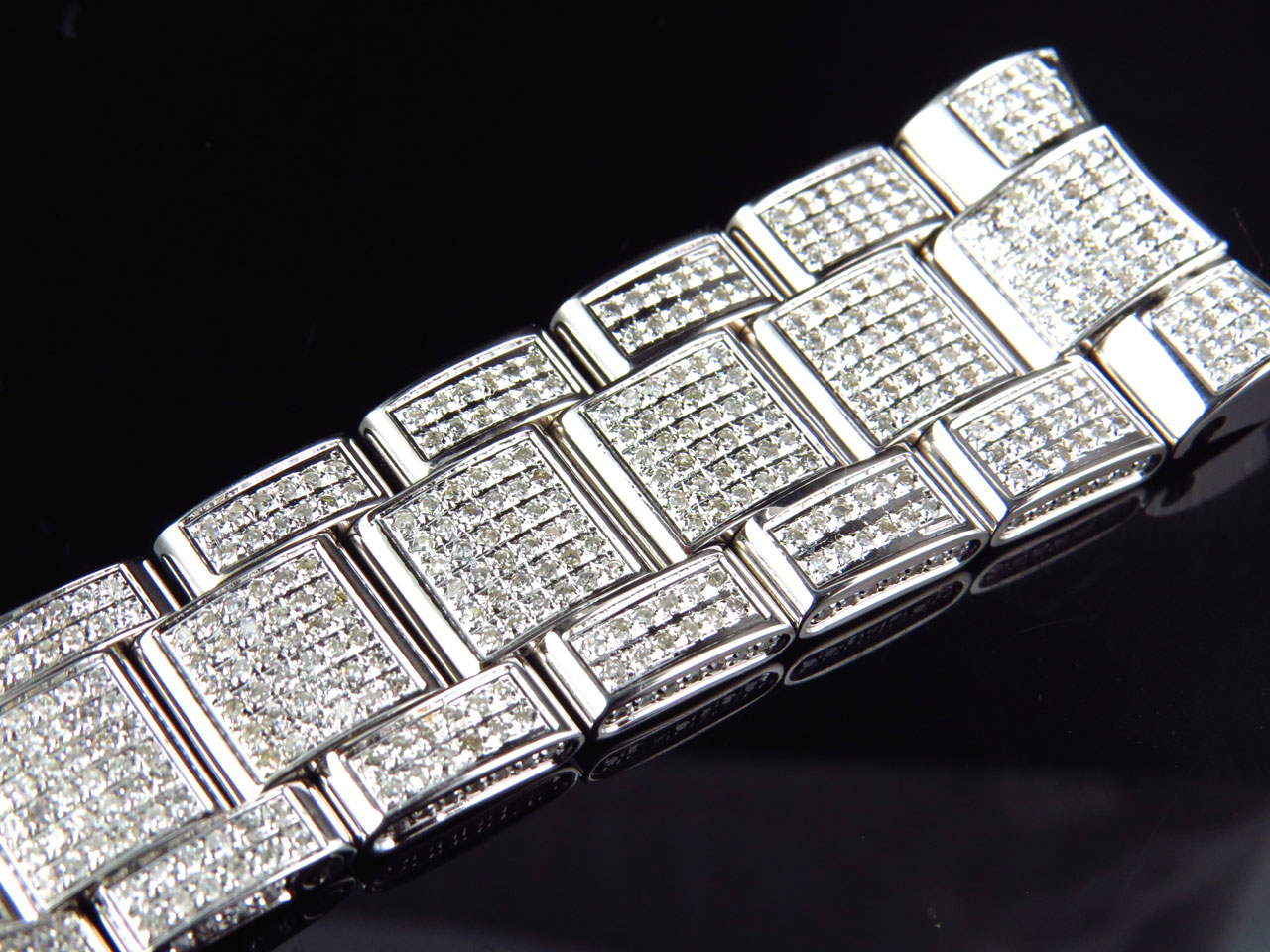Brand New Mens Rolex Datejust Ii 41mm Pave Set Diamond Band With 9 Ct Custom