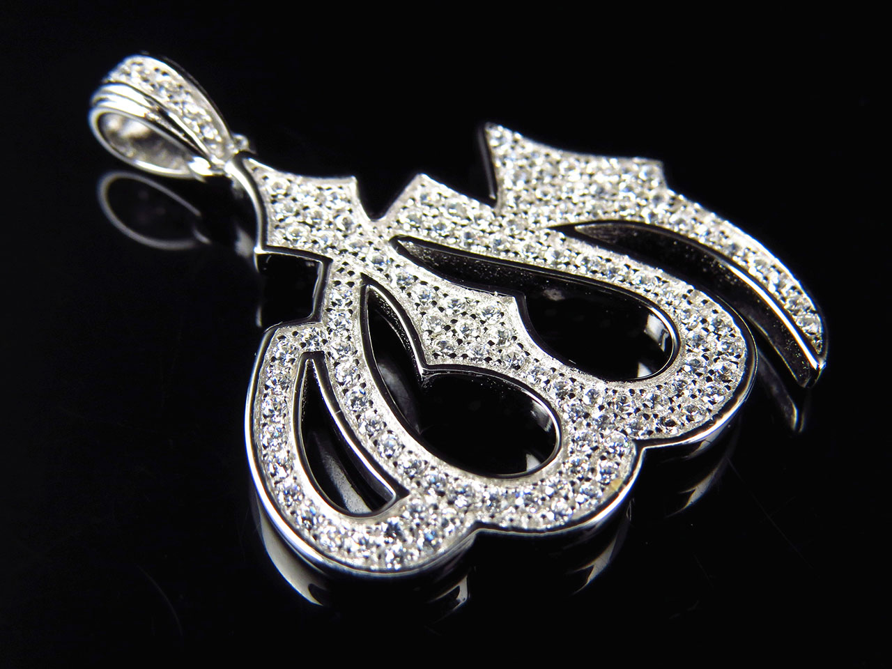 dancing sterling pendant shine diamond finish world gold premium products white lab silver cm