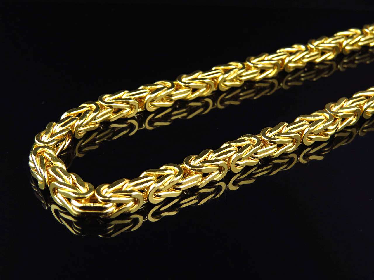 Mens/ Ladies Bonded 1/20th 10K Yellow Gold 6 MM Byzantine Chain Necklace  30-38 | eBay