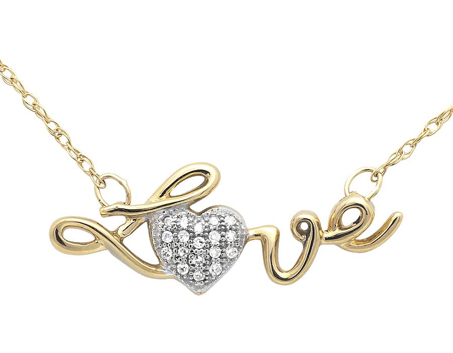 14k yellow gold ladies love heart diamond pendant necklace singapore 14k yellow gold ladies love heart diamond pendant necklace singapore chain 17in aloadofball Images