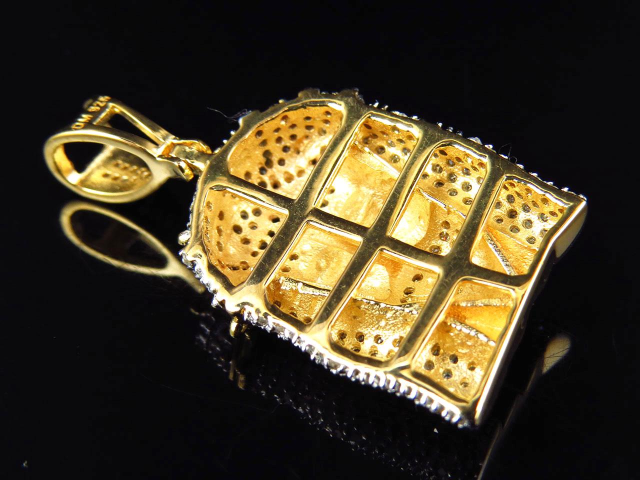 Real diamond thorn crown jesus piece pendant in yellow gold finish real diamond thorn crown jesus piece pendant in aloadofball Image collections