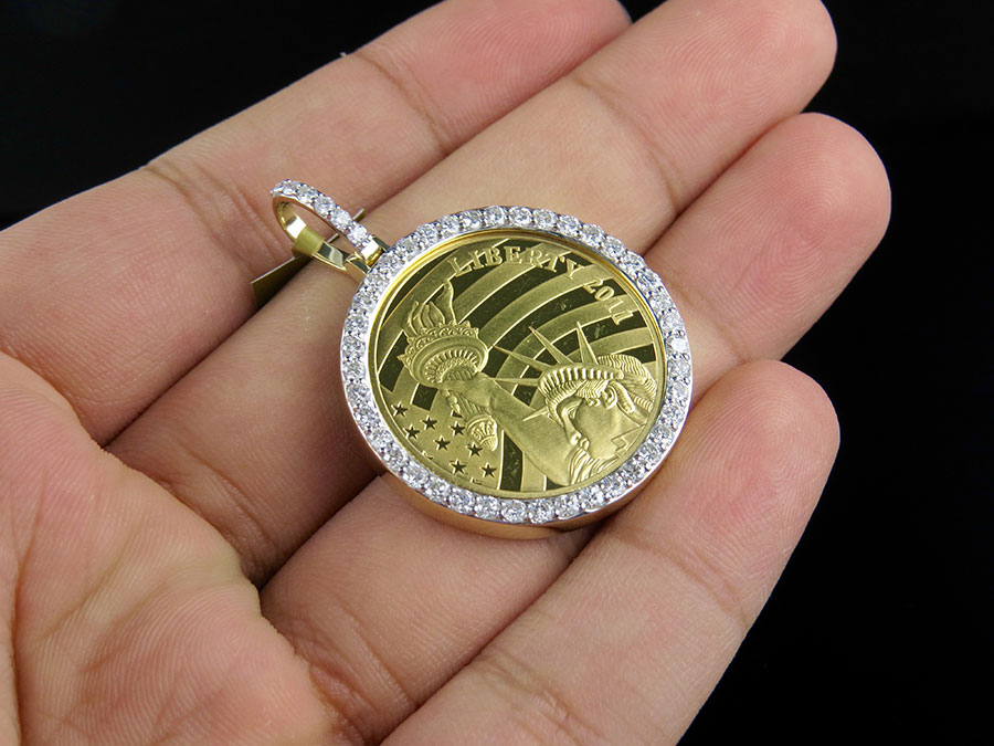 24k Solid Yellow Gold Coin Lady Liberty