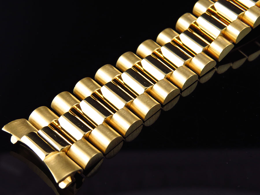 Mens President Watch Band For Rolex Day Date In 18k Yellow