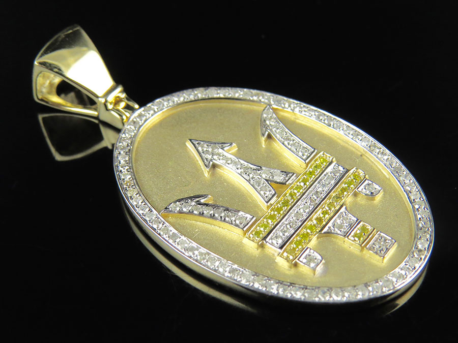 10k yellow gold trident maserati logo 2 canary and white diamond 10k yellow gold trident maserati logo 2 canary and white diamond pendant 10ct ebay mozeypictures Gallery