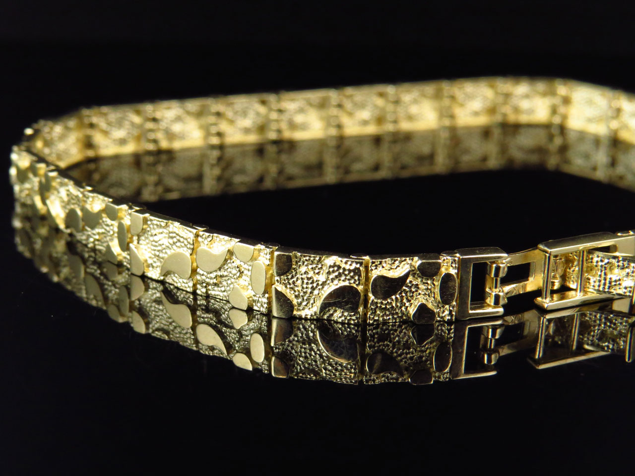 mens gold nugget diamond bracelet best bracelet 2018