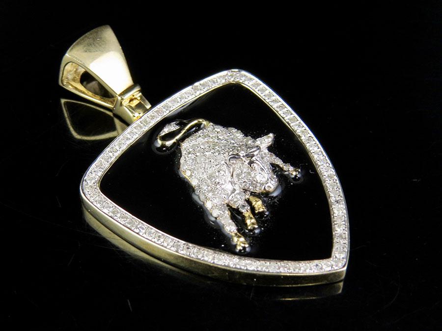 Jewelry Unlimited 10k Yellow Gold Lamborghini Bull Shield Real