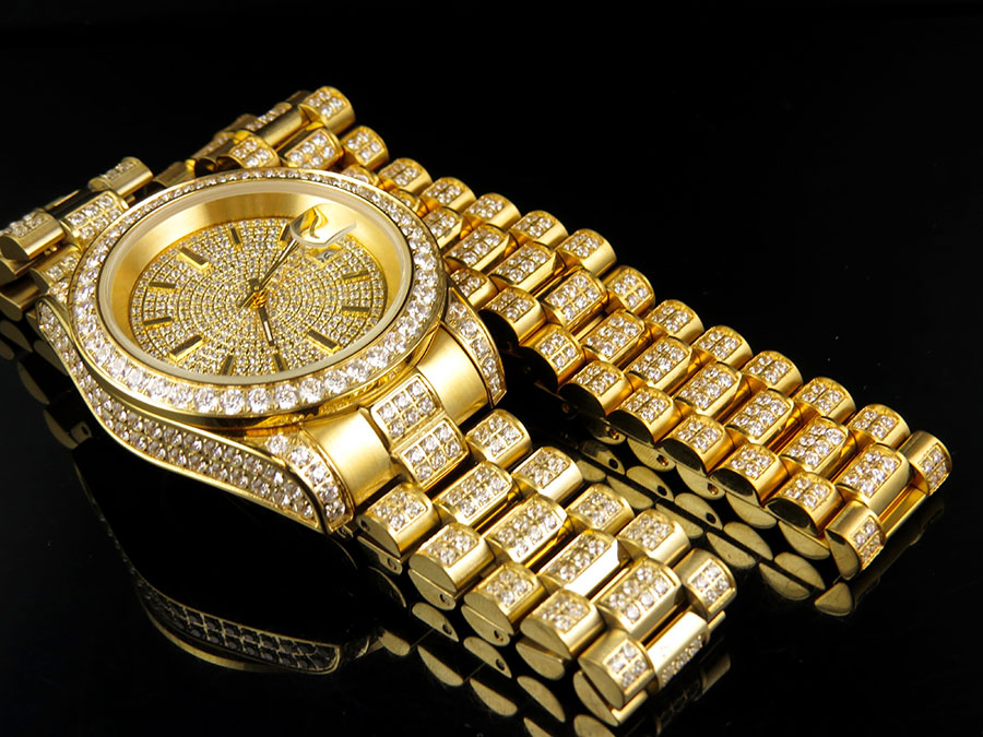 mens 18k yellow gold finish stainless steel presidential watch mens 18k yellow gold finish stainless steel presidential watch bracelet set main picture