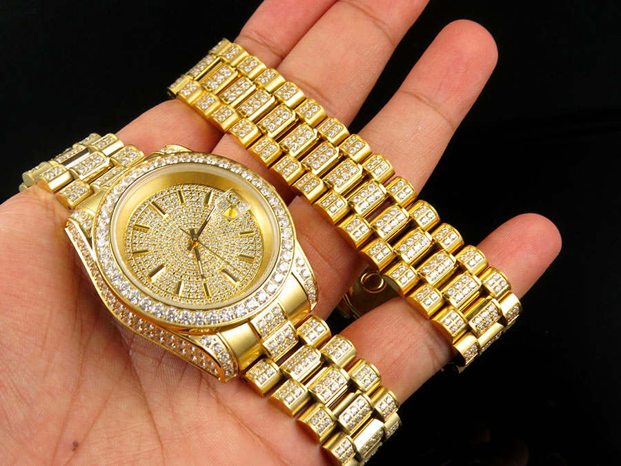 mens 18k yellow gold finish stainless steel presidential watch retail price 1399 99 00