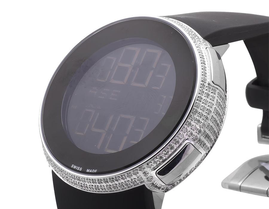 92500df27 Ladies Brand New Ya114401 I Gucci Digital Genuine Diamond Watch Two Timezone