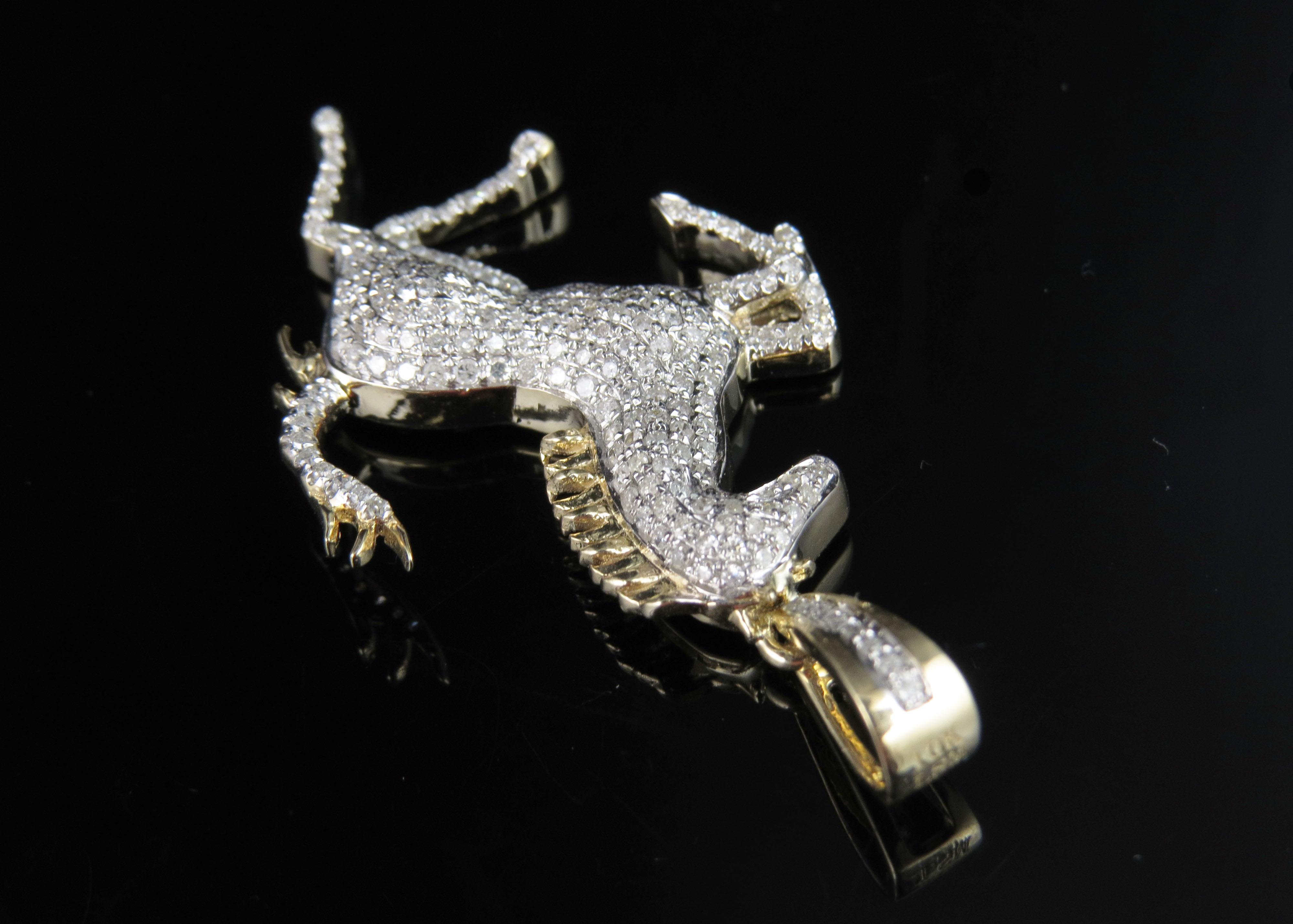 img horse gold itm necklace logo diamond inch charm pendant genuine ebay yellow ferrari