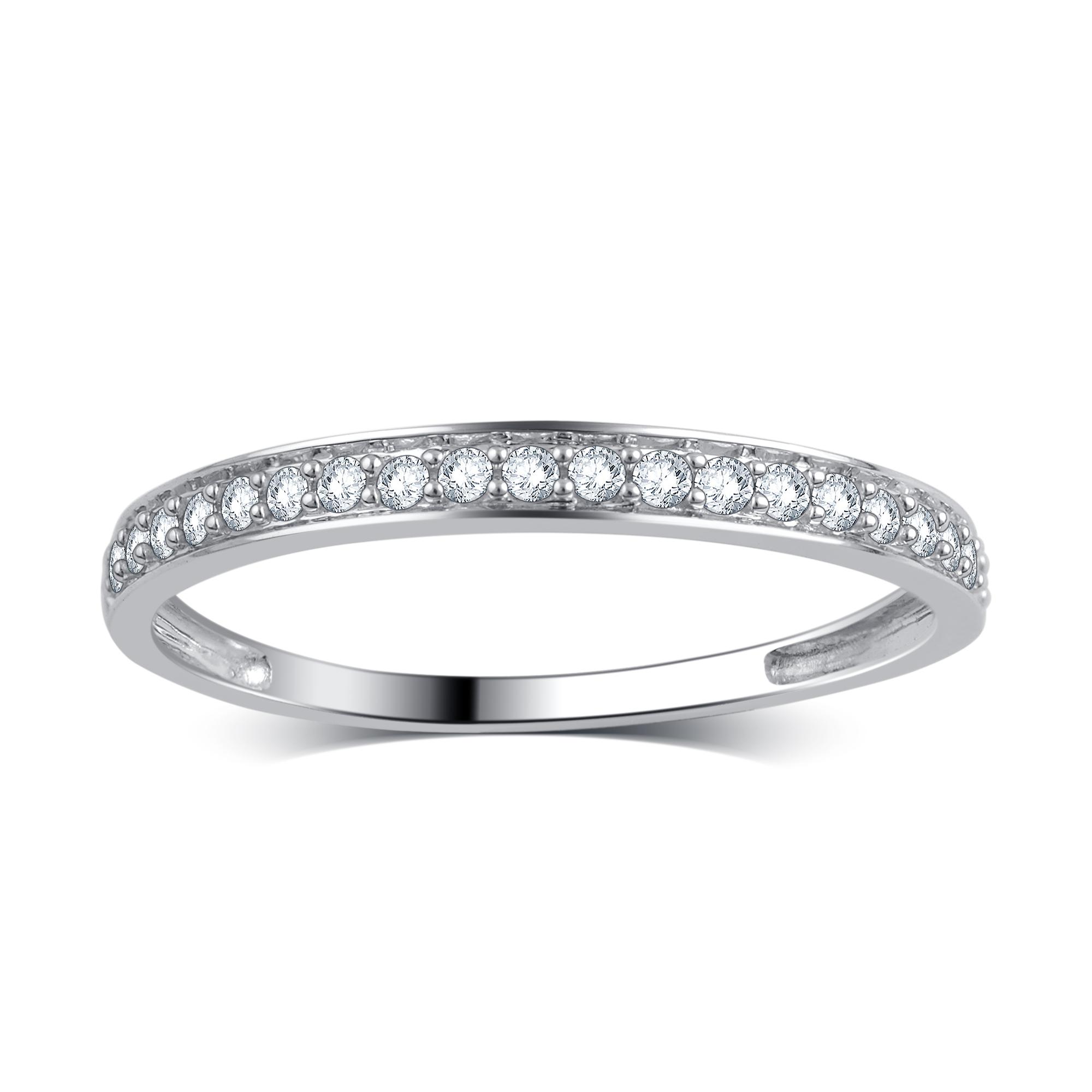 9ct Rosa /& Oro Blanco Diamante Anillo de boda banda de 4 mm