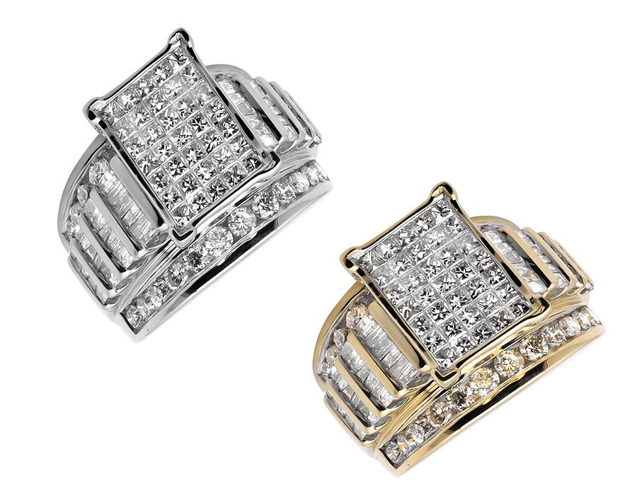 Magnifique 18K Or Jaune Finition Tennis Bracelet avec 3.00 Ct Diamants